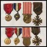 Lot-4-Médailles-14-18-Médaille-Militaire-Croix-de